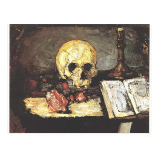 Still Life with Skull, Candle, and Book. Postcard