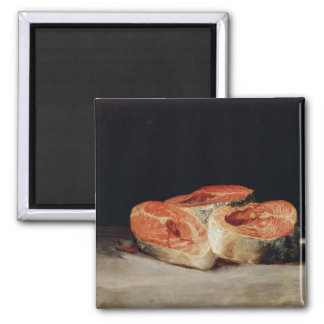 Still Life with Slices of Salmon, 1808-12 2 Inch Square Magnet