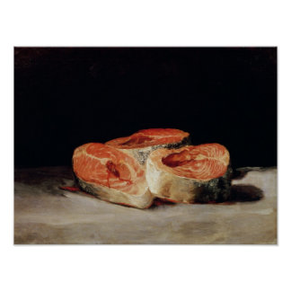 Still Life with Slices of Salmon, 1808-12 Poster
