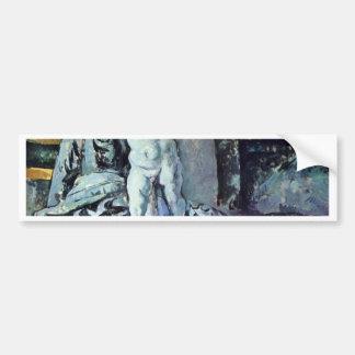 Still Life With Statuette By Paul Cézanne Car Bumper Sticker