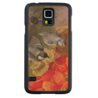 Still Life with Strawberries and Bluetits Carved® Maple Galaxy S5 Slim Case