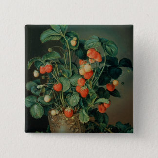 Still life with strawberries button