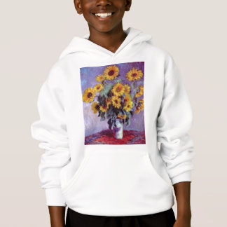 Still Life with Sunflowers by Claude Monet Hoodie