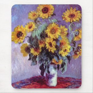 Still Life with Sunflowers by Claude Monet Mouse Pad