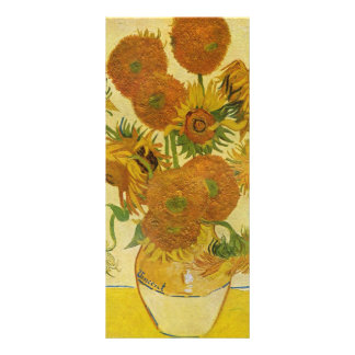 Still life with sunflowers by Vincent van Gogh Rack Card
