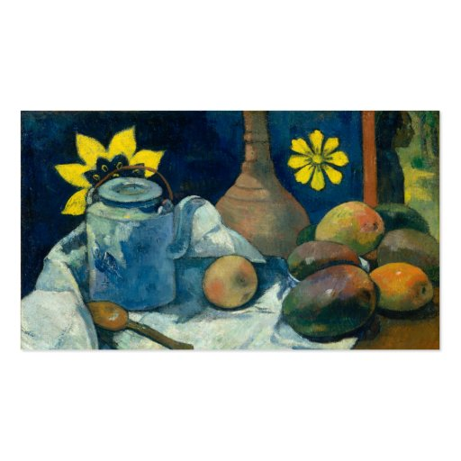 Still Life with Teapot and Fruit - Paul Gauguin Business Card