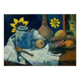 Still Life with Teapot and Fruit - Paul Gauguin Poster