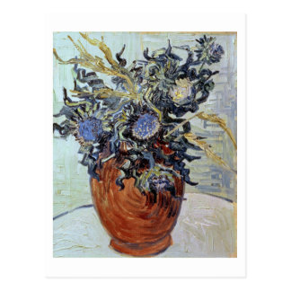 Still Life with Thistles, 1890 (oil on canvas) Postcard