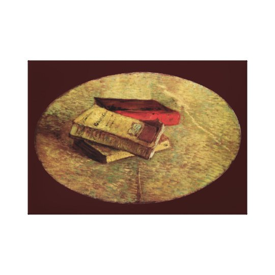 Still Life with Three Books by Vincent van Gogh Canvas Print