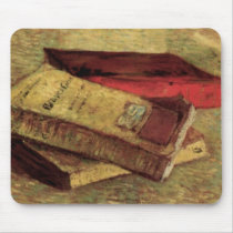 Still Life with Three Books by Vincent van Gogh Mouse Pad