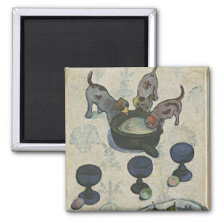 Still Life With Three Puppies by Paul Gauguin Refrigerator Magnet