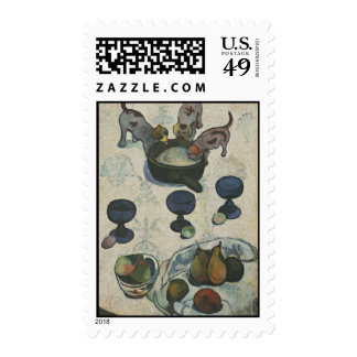 Still Life With Three Puppies by Paul Gauguin Stamp