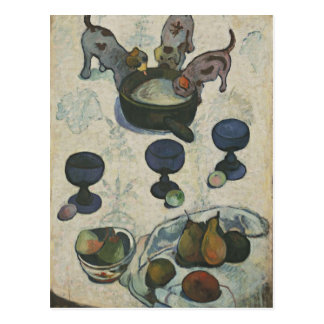 Still Life With Three Puppies by Paul Gauguin Postcard