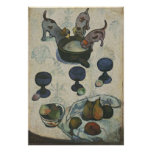 Still Life With Three Puppies by Paul Gauguin Print