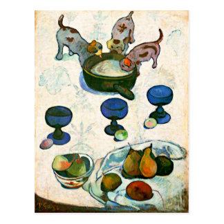 Still Life with Three Puppies, Paul Gauguin Postcards
