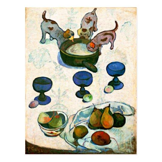 Still Life with Three Puppies, Paul Gauguin Postcard