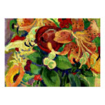 Still Life with Tiger Lilies; Leo Gestel painting Poster
