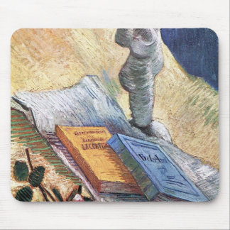 Still Life with torso and two novels by van Gogh Mouse Pad