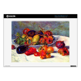 Still life with tropical fruits by Pierre Renoir Skin For Acer Chromebook