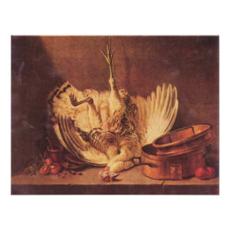 Still Life with turkey by Jean Chardin Poster