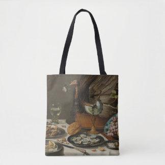 """Still Life With Turkey Pie"" art bags"