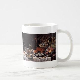 Still Life with Turkey Pie - Pieter Claesz Coffee Mug