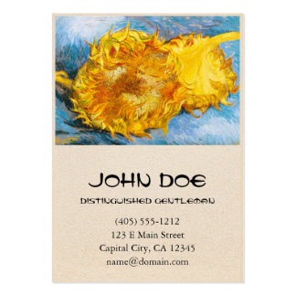 Still Life with Two Sunflowers by Vincent Van Gogh Business Cards