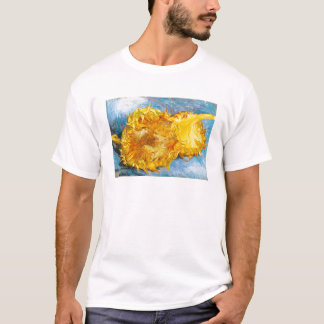 Still Life with Two Sunflowers by Vincent Van Gogh T-Shirt