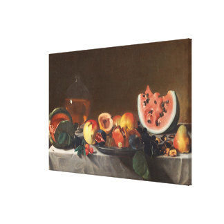Still life with watermelons and carafe canvas print