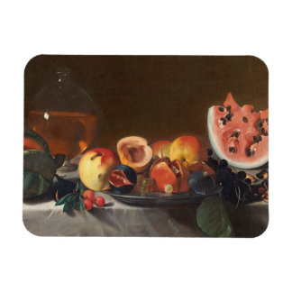 Still life with watermelons and carafe magnet
