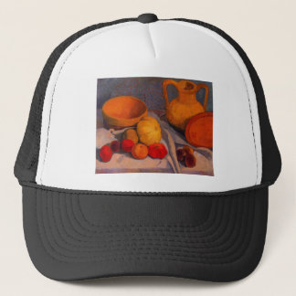 Still life with yellow cup by Modersohn Trucker Hat