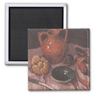 Still life with yellow jug - Paula Modersohn-Becke 2 Inch Square Magnet