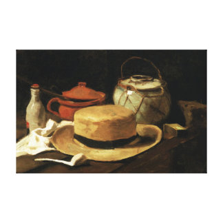 Still-Life with Yellow Straw Hat Gallery Wrapped Canvas Print