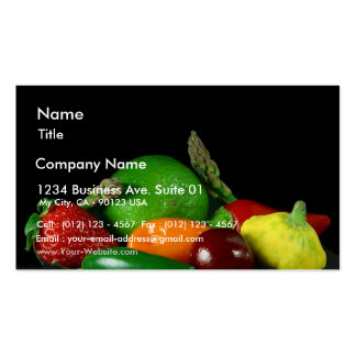 Still Lifevegetables Asparagus Limes Strawberries Business Card