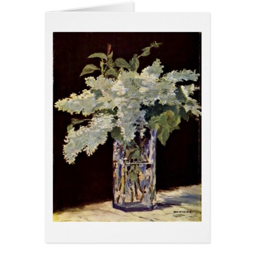 Still Lilac Bouquet By Edouard Manet Greeting Card