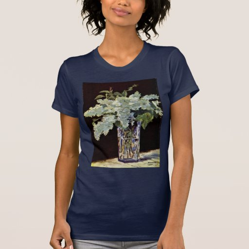Still Lilac Bouquet By Manet Edouard Shirt