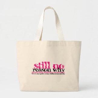 Still No Reason Why logo tote Tote Bag