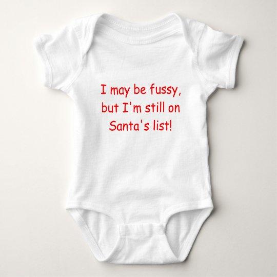 Still on Santa's List- short sleeve Baby Bodysuit