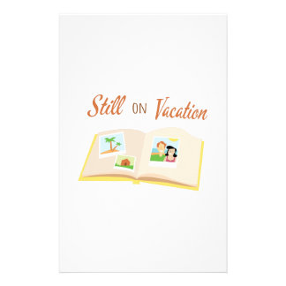 Still On Vacation Personalized Stationery