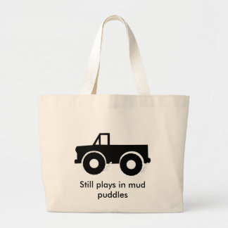 Still plays in mud puddles (4WD) Large Tote Bag