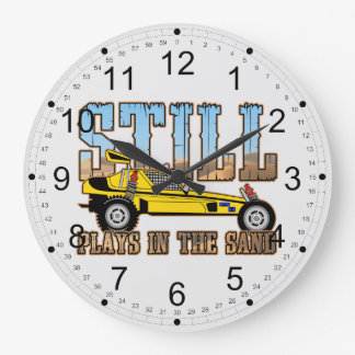 Still Plays in the Sand Large Clock