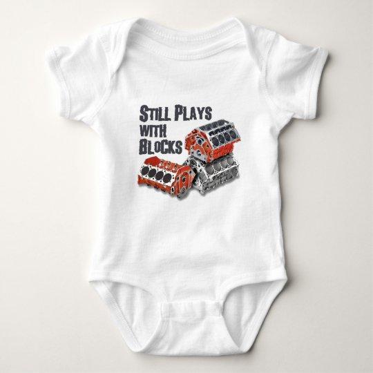 Still Plays With Blocks Baby Bodysuit