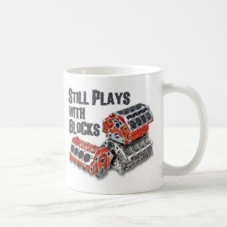 Still Plays With Blocks Coffee Mug