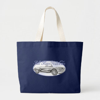 Still Plays With Cars Large Tote Bag