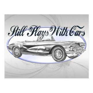 Still Plays With Cars Post Card