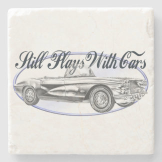 Still Plays With Cars Stone Coaster