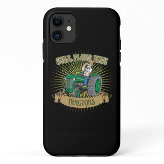 Still Plays With Green Tractors iPhone 11 Case