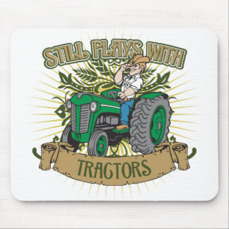 Still Plays With Green Tractors Mouse Pads