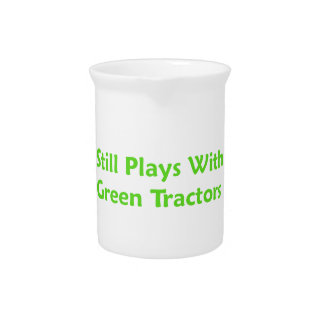 Still Plays With Green Tractors Pitcher