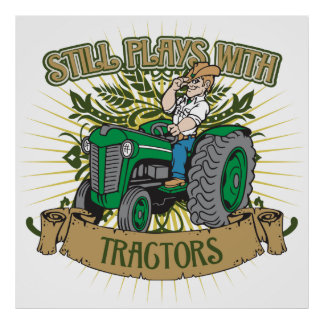 Still Plays With Green Tractors Poster